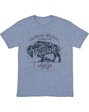 Wrangler Men's Buffalo Sprit Short Sleeve T-Shirt, Indigo, hi-res