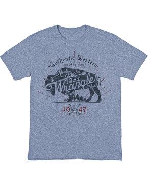 Wrangler Men's Buffalo Sprit Short Sleeve T-Shirt, Indigo, hi-res