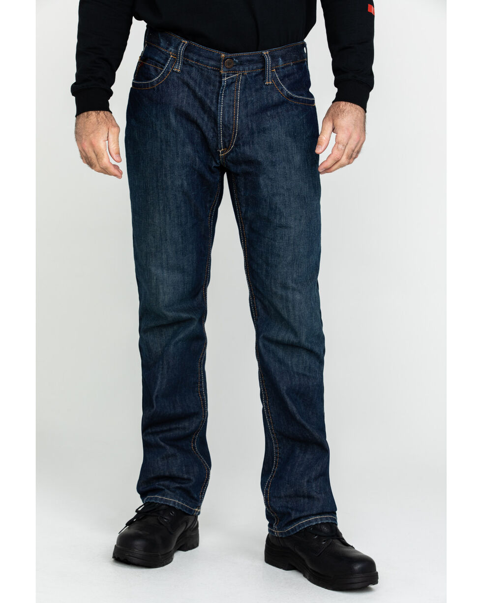 Ariat Men's Shale Fire Resistant Work Denim, Denim, hi-res