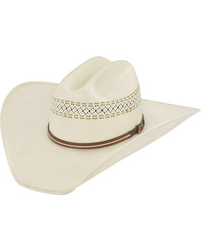 Justin 50X Butte Straw Cowboy Hat, Natural, hi-res