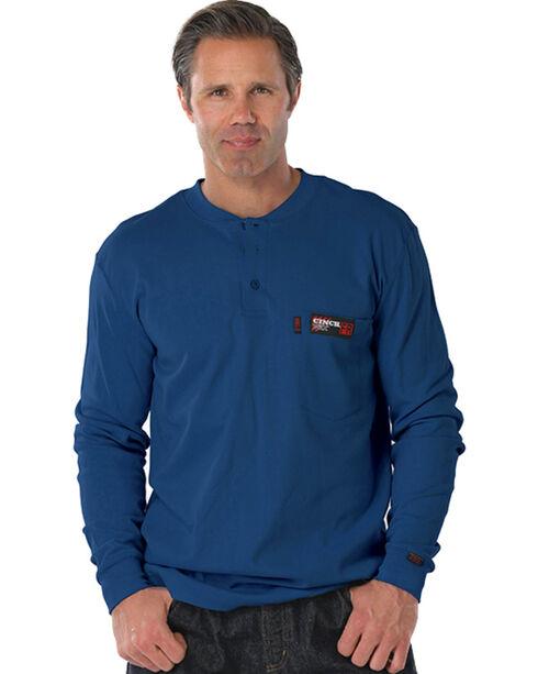 Cinch WRX Flame Resistant Long Sleeve Henley Shirt, , hi-res