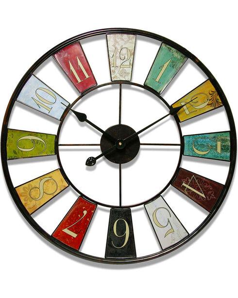 "Infinity Instruments 24"" Kaleidoscope Wall Clock, Multi, hi-res"