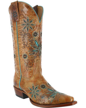 Shyanne Women's Daisy Mae Cowgirl Boots - Snip Toe, Cognac, hi-res