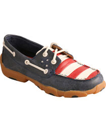 Twisted X Kid's VFW Red White & Blue Moc Toe Driving Shoes, , hi-res