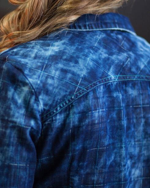 Ryan Michael Women's Midnight Tiered Sleeve Shirt, , hi-res