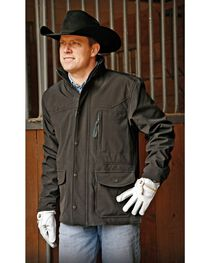 STS Ranchwear Men's Brazos Black Jacket - Big & Tall - 4XL, Black, hi-res