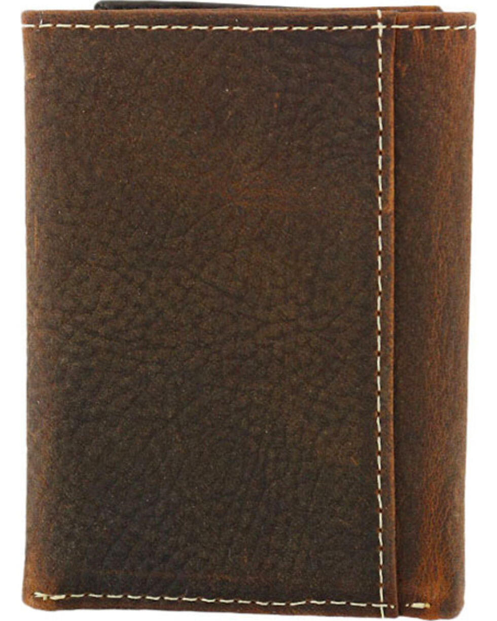 Cody James® Men's Tri-Fold Hair-On Hide Wallet, Brown, hi-res