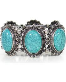 Shyanne® Women's Turquoise Concho Bracelet, , hi-res