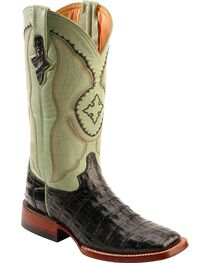 Ferrini Caiman Belly Crocodile Cowgirl Boots - Wide Square Toe, , hi-res