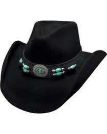 Bullhide Jewel of the West Wool Cowgirl Hat, , hi-res