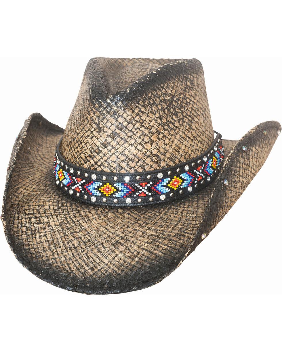 Bullhide Women's Love Myself Straw Hat, Black, hi-res