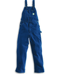 Carhartt Men's Washed-Denim Bib Unlined Overalls, , hi-res