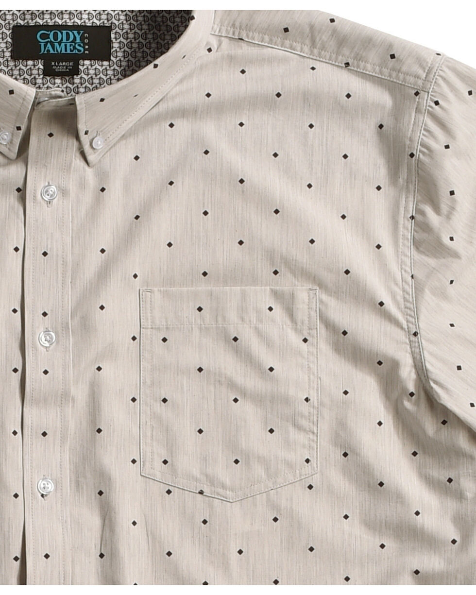 Cody James Men's Palo Alto Diamond Print Short Sleeve Shirt, Grey, hi-res