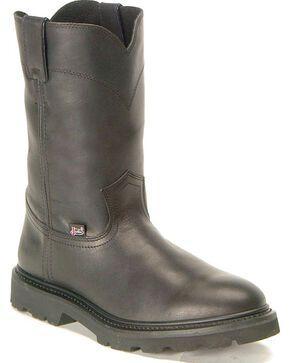 "Justin Men's 10"" JOW Work Boots, Black, hi-res"