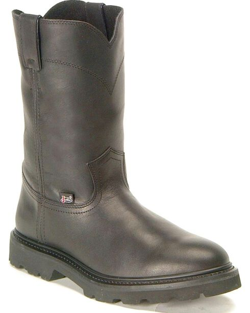 "Justin Men's 10"" JOW Work Boots, Black, hi-res"