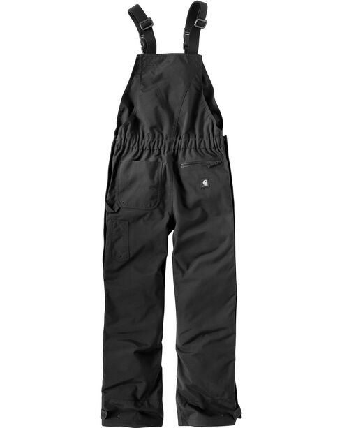 Carhartt Men's Shoreline Bib Overalls, Black, hi-res