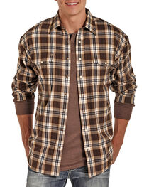 Powder River by Panhandle Men's Brushed Plaid Flannel, , hi-res