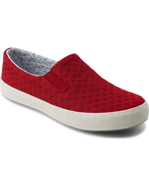 Eastland Women's Burgundy Breezy Slip-On Sneakers , Burgundy, hi-res