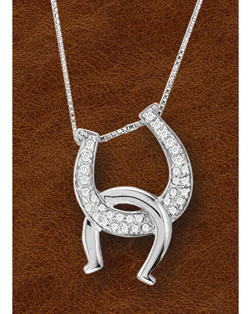 Kelly Herd Sterling Silver Interlocking Horseshoe Pendant, Silver, hi-res
