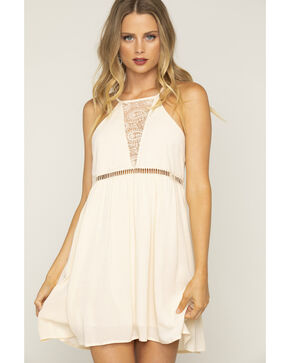 Shyanne Women's Paisley Lace Sleeveless Dress, Ivory, hi-res