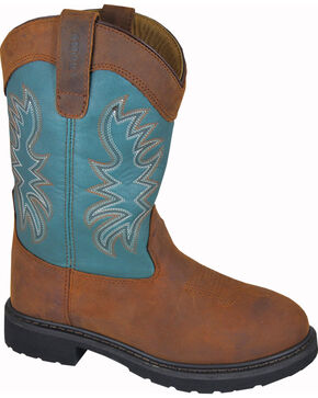 Smoky Mountain Men's Grady Wellington Work Boots - Round Toe, Brown, hi-res