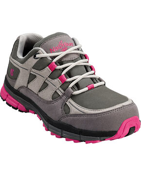Nautilus Women's Steel Toe Slip Resistant ESD Athletic Safety Shoes, Grey, hi-res