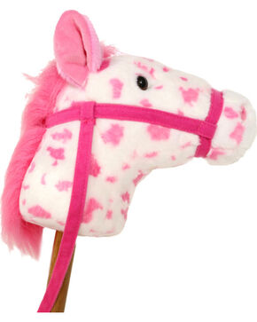 Lil' Boot Barn® Giddy-Up Stick Horse, Pink, hi-res