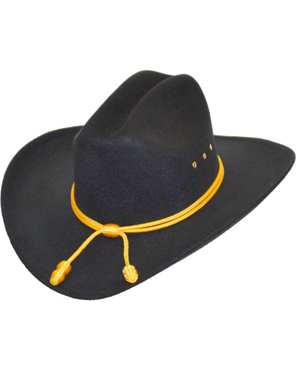 Western Express Men's Black Union Officer Hat , Black, hi-res