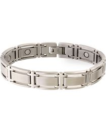 Sabona Men's Executive Symmetry Stainless Steel Magnetic Bracelet, , hi-res