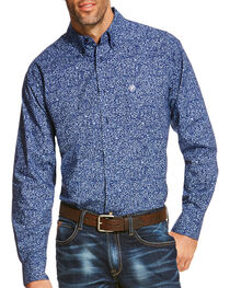 Ariat Men's Blue Rocklin Print Long Sleeve Shirt , , hi-res