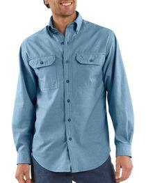Carhartt Men's Long Sleeve Chambray Shirt, , hi-res