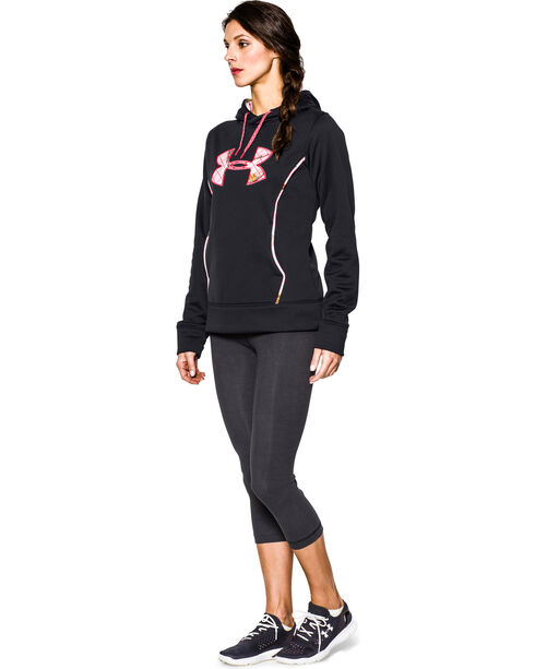 Under Armour Women's UA Storm Caliber Camo Hoodie, Black, hi-res