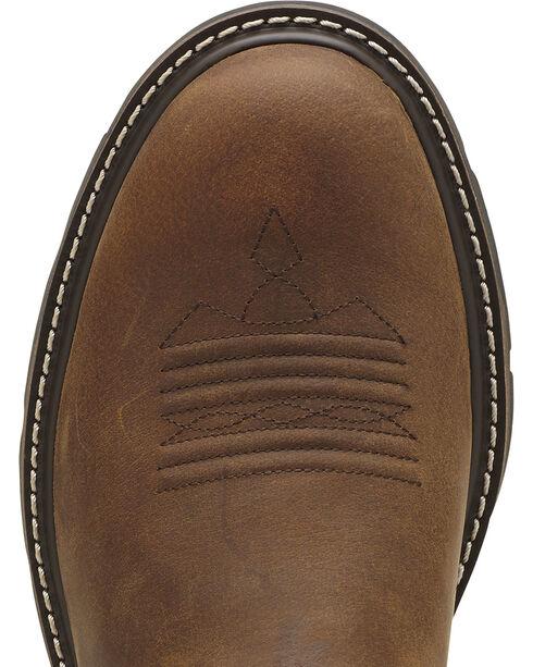 Ariat Men's Groundbreaker Pull-On Work Boots, Brown, hi-res