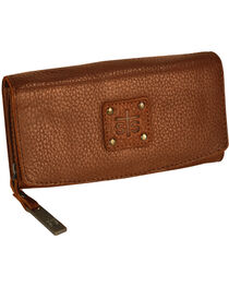 STS Ranchwear Brown Cassie Joh Trifold Wallet , Brown, hi-res