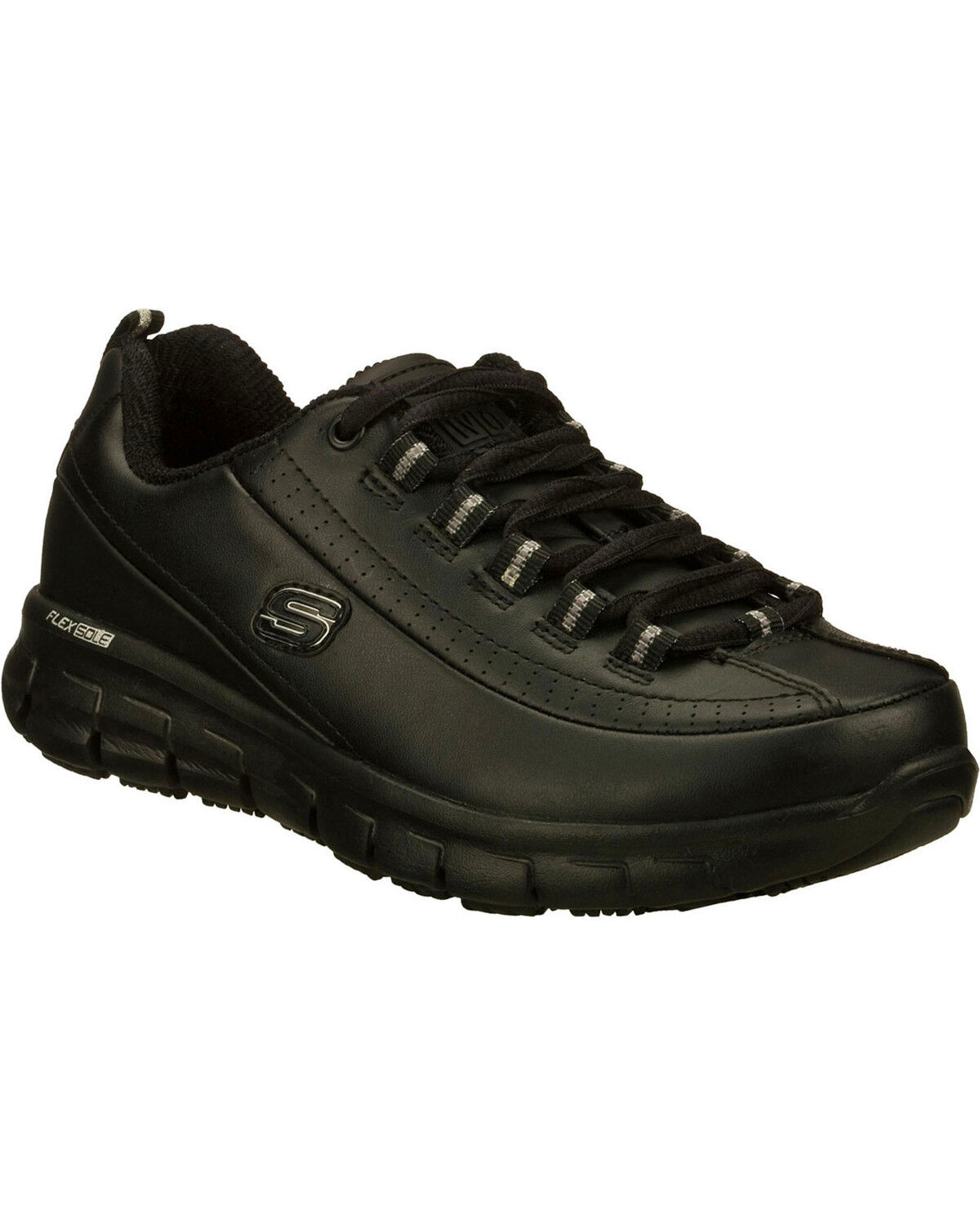 all black skechers womens