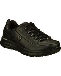 Skechers Women's Black Sure Track Trickel Slip Resistant Work Shoes , , hi-res