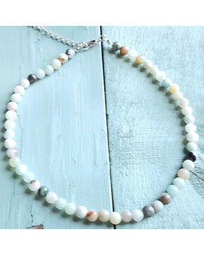 Jewerly Junkie Women's Amazonite Choker Necklace , Multi, hi-res