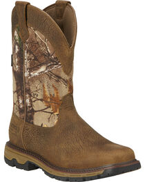 "Ariat Men's Conquest 11"" H20 Insulated Pull-On Hunting Boots, , hi-res"