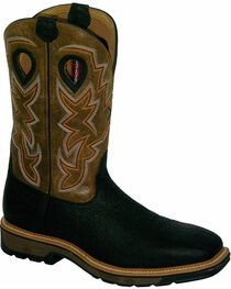 Twisted X Men's Steel Toe Lite Weight Work Boots, Black, hi-res