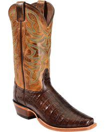 Nocona Men's Caiman Exotic Square Toe Exotic Boots, , hi-res