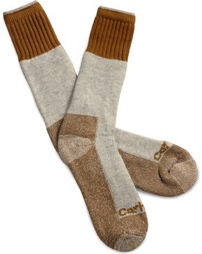 Carhartt Men's All Season Steel Toe Socks, Brown, hi-res