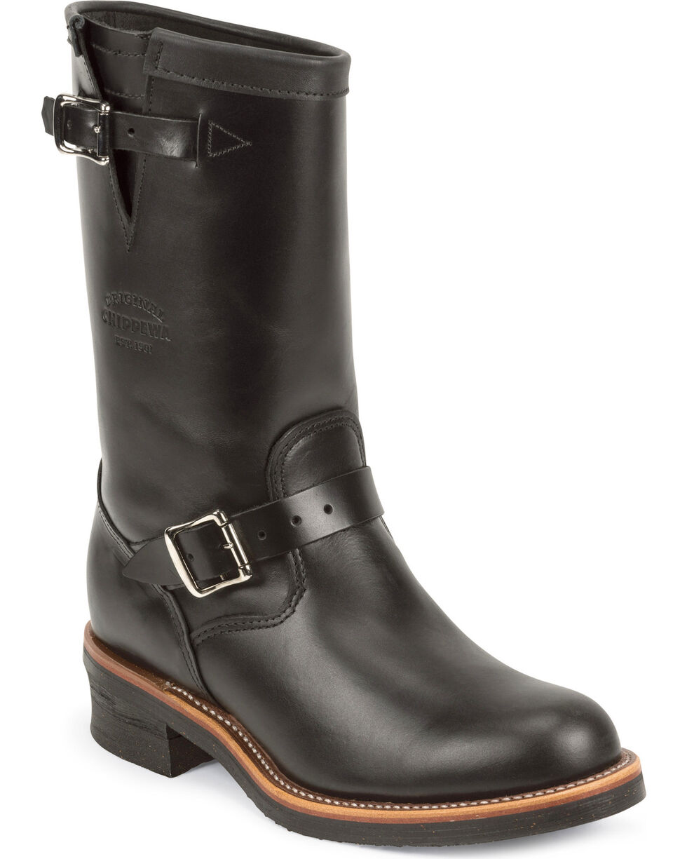 Chippewa Men's Whirlwind  Engineer Boots, Black, hi-res