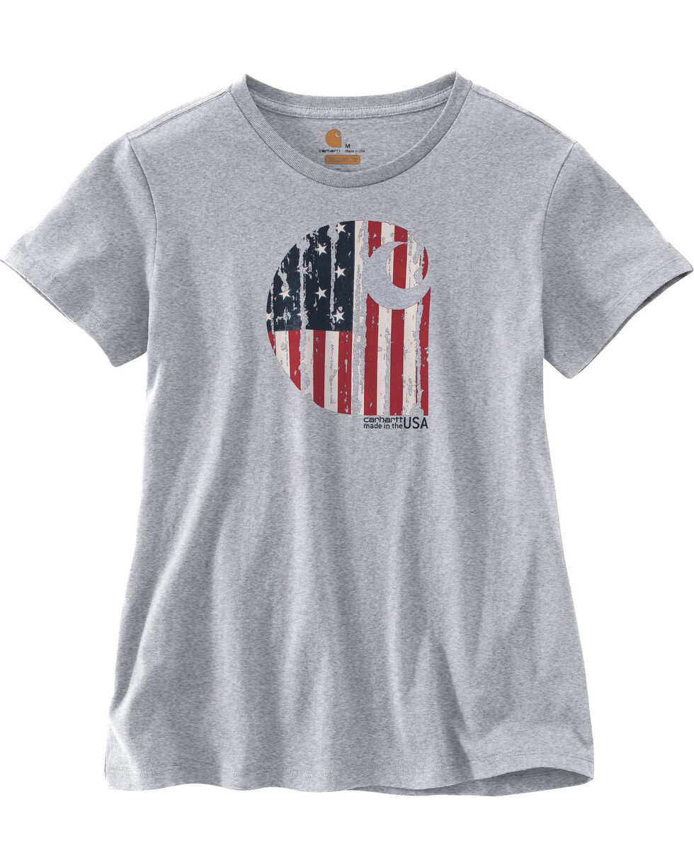 "Carhartt Women's Lubbock Short Sleeve American Branded ""C"" Graphic Tee, , hi-res"