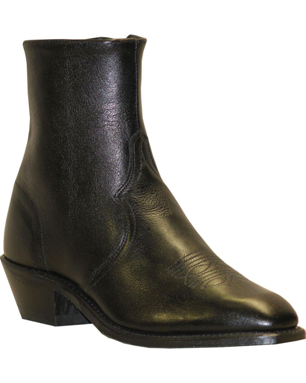 """Abilene Men's 7"""" Western Zip Boots, Black, hi-res"""