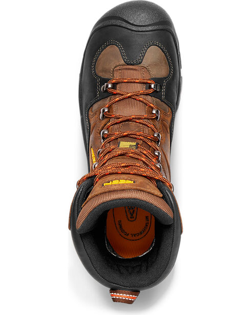 "Keen Men's Coburg 8"" Waterproof Boots - Steel Toe, Brown, hi-res"