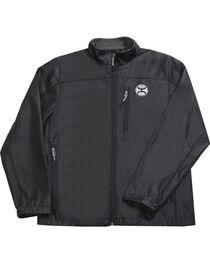 Hooey Men's Black Texture Fleece Lined Jacket , , hi-res