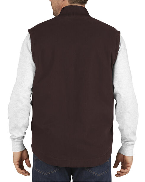 Dickies Sanded Duck Insulated Vest, Brown, hi-res