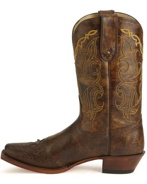 Tony Lama Women's 100% Vaquero Square Toe Wingtip Boots, Bark, hi-res