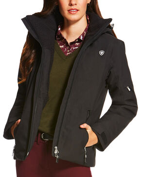 Ariat Women's Black Rigor H2O Jacket, Black, hi-res