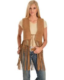 Red Ranch Women's Long Suede Fringe Vest, , hi-res